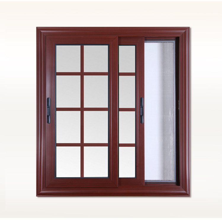 Rogenilan modern window grille design for aluminum sliding for Modern sliding window design
