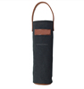 High quality and durable wax canvas leather bag wine roll