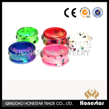 New trend fashion cheap caoting acrylic piercing ear plugs jewelry