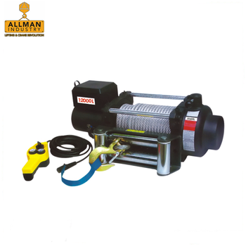 ALLMAN hot sales 5000lbs to 10000lbs pulling capacity 12v electric winch