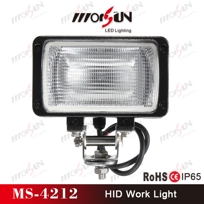 9-32V DC 55W HID xenon driving light for SUV, IP 67 waterproof HID xenon offroad headlight for atv