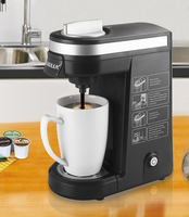 Black QF-CM801 Amazon Minitype New Chulux factory popular sell capsule 1 cup coffee machine