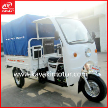 Dry Battery Operated Cargo Truck Tricycle Dumper / Passenger Truck Tricycle