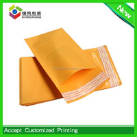Tough kraft laminated with barrier bubble,Yellow Bubble Material Kraft Bubble Mailers