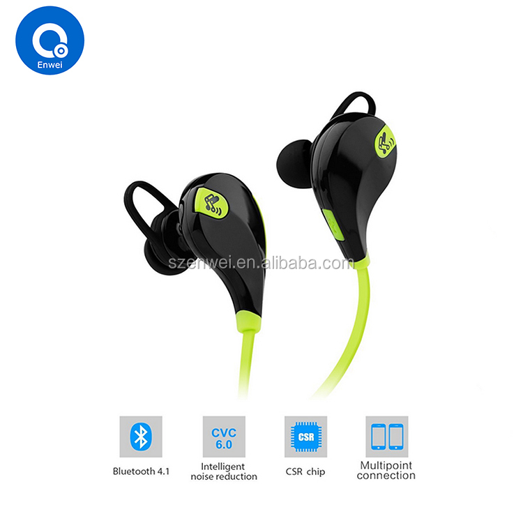 Wholesale hot sale QY7 <strong>bluetooth</strong> 4.1 wireless mini headset portable sport headphone
