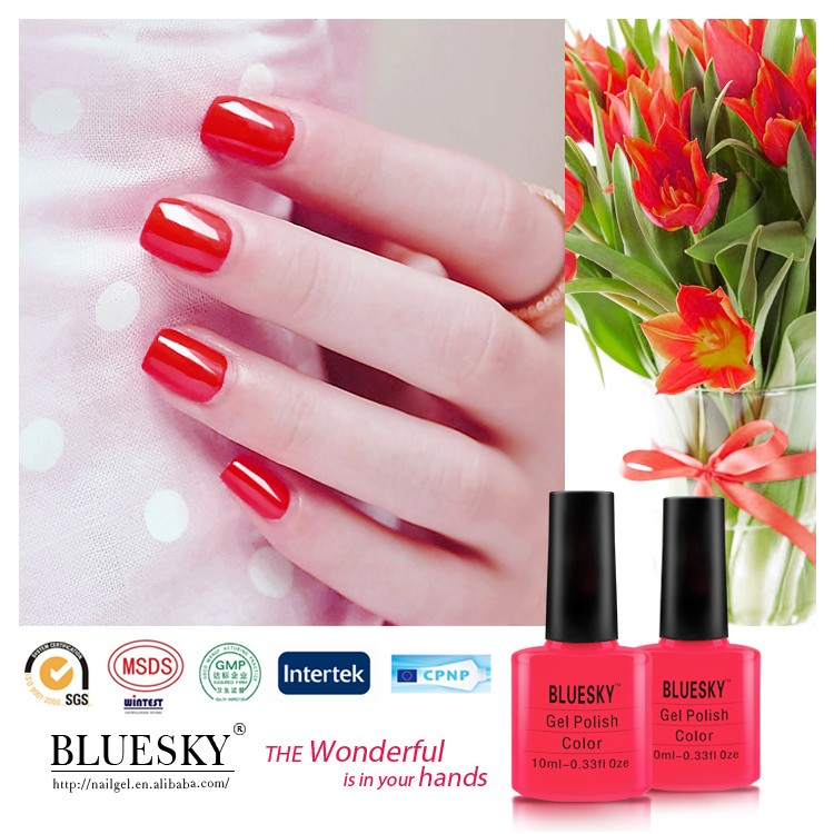 Bluesky Hot Classic Color red Nail Polish UV Gel polish art nail beauty