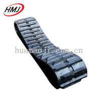 Excavator Bullzozer bolt on rubber track pad
