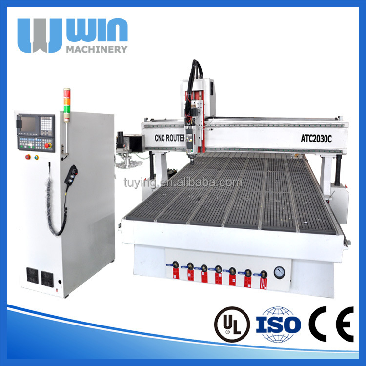 Rotating Changing Tool Magazine ATC2030C CNC Router For Wood Kitchen Cabinet Door