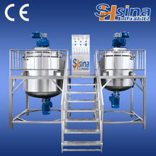 China made Cosmetic mixing equipment/shampoo mixing tank/ointment vacuum emulsifying machine