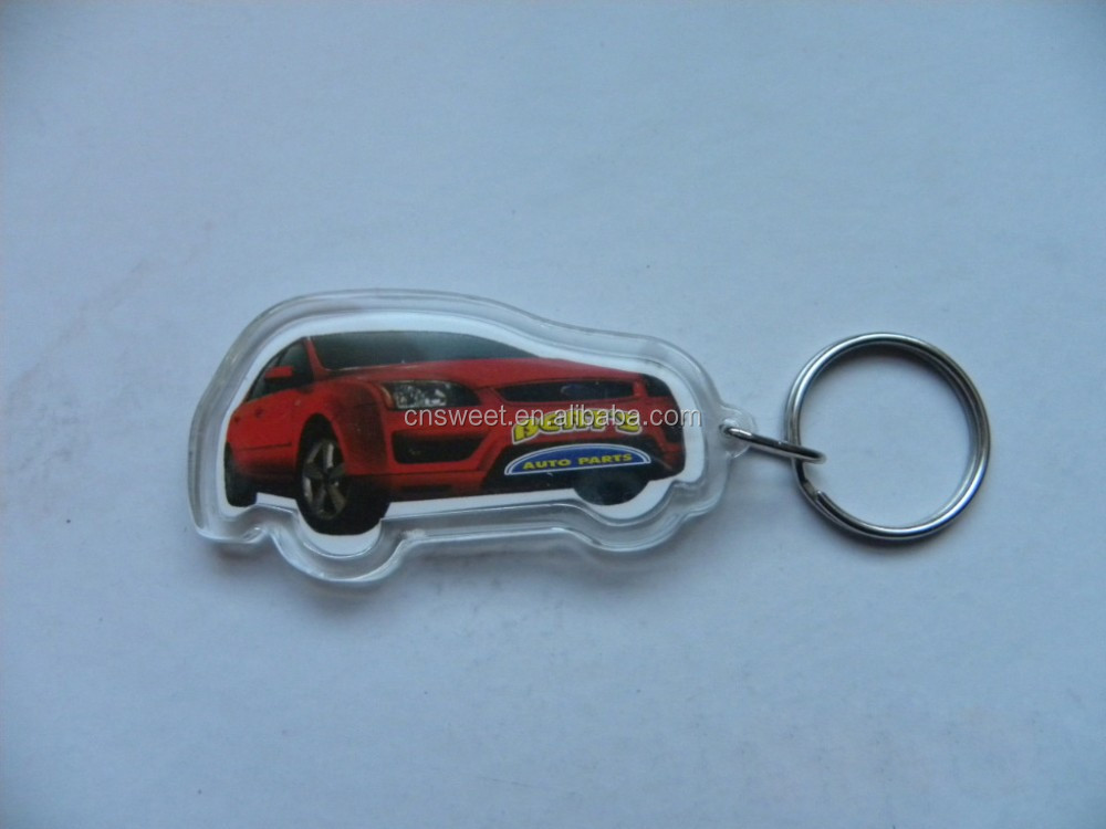 plastic acrylic clear witn any logo motorcycle keychain
