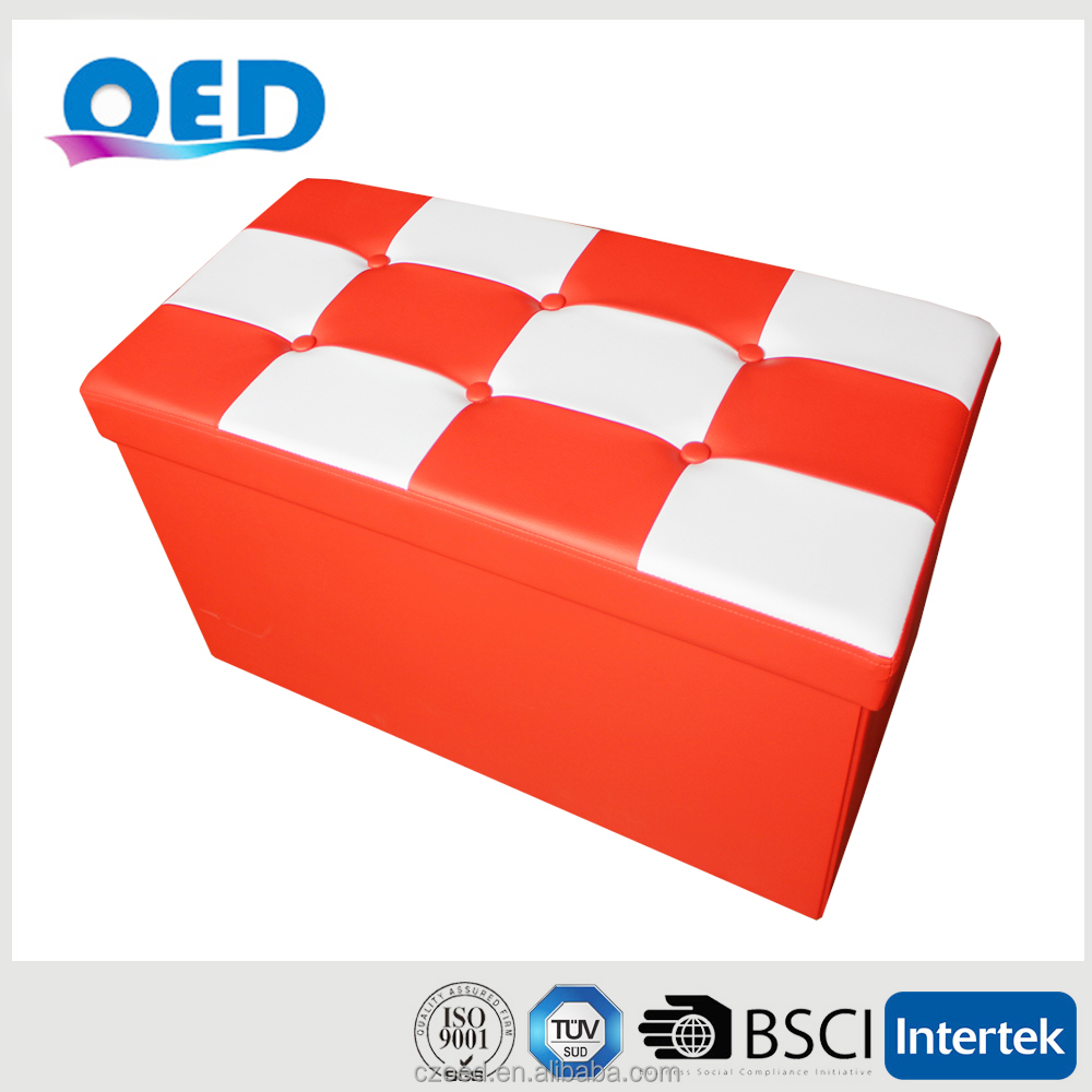 OED PVC Pattern Long Folding Storage Ottoman Bench 76*38*38cm C27