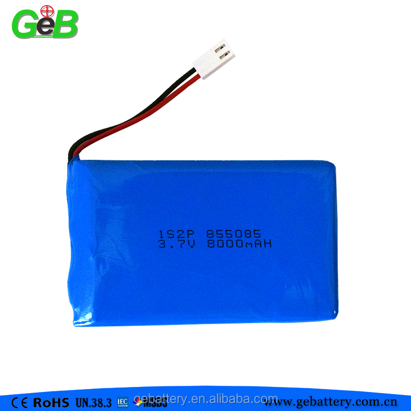 led light strip battery pack, 1s2p 855085 8000mah laptop lipo battery packs
