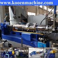 large capacity plastic pellet making machine for pet flake pe pp film