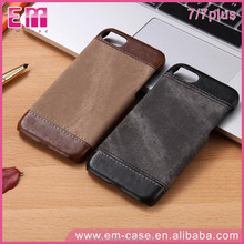 Dropshipping Cool Splicing Denim Pattern Leather Case for iPhone 7Plus Smart Phone Cover