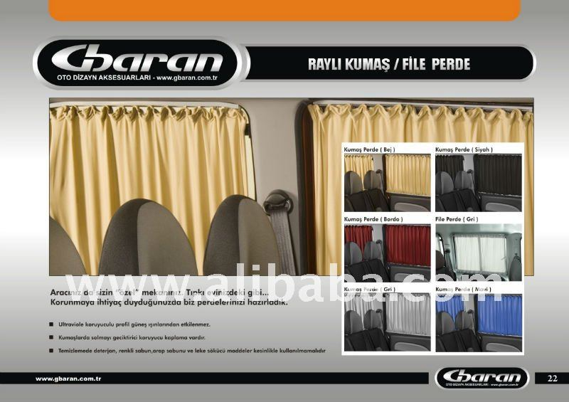 FABRIC/FILLET RAILED CURTAIN