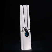 Oirlv Wholesale Custom White Acrylic Block Necklace Holder Display Rack Jewelry Stands