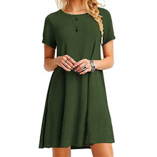 latest fashion dress design ladies tshirt dress screen print Women's Knitted Dress For Young Promotion Office Wear Long