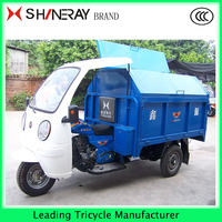 Garbage three wheel motor/electric van Cargo tricycle Car