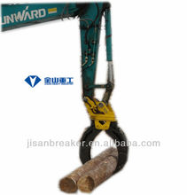 HITACHI ZX220 hydraulic grapple, excavator attachment grapple,wood log grapple