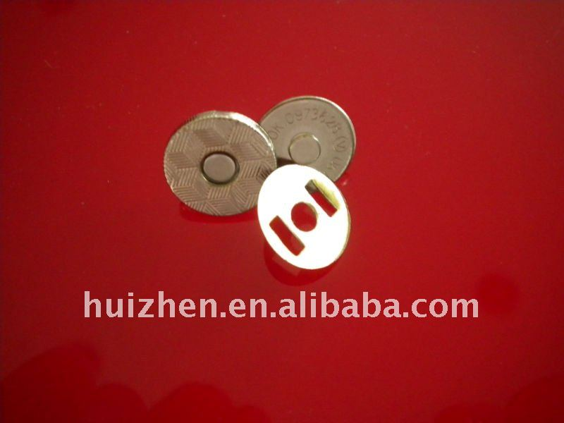 thin magnet snap button for bag and suitcase