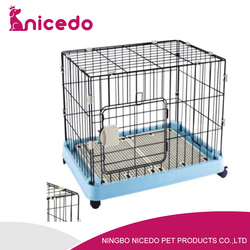 pet dog cat cage , metal playpen portable with tray , crate kennel