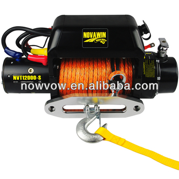 high quality winch synthetic rope electric 12V NVT12000-S