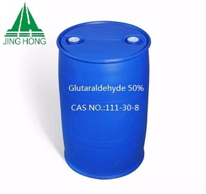 Biocide Water Treatment Chemical Glutaraldehyde 50% solution Manufacturer/disinfectant glutaric dialdehyde price/cas 111-30-8