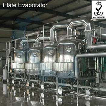 ISO Full Automatic TVR Multi-effect Falling Film Plate Evaporator/Concentrator/Concentrating Machine