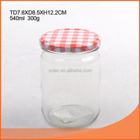 Popular hot selling 8OZ&16oz jar glass canning jar with colored lid