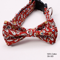 Handsome Tie New Product Paisley Cotton Dog Neck Collar Bow Ties Bulk