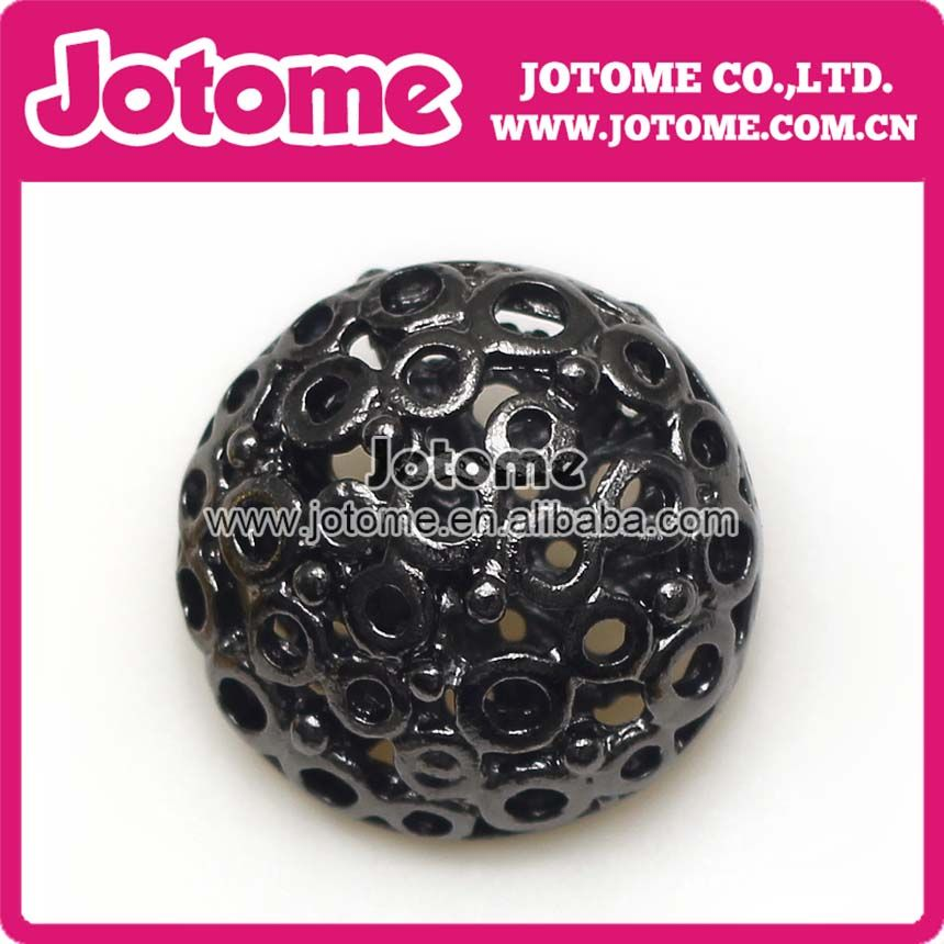 Fashion Gold-colored black BALL Clover Rhinestone Buttons