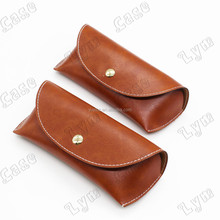 vintage case for sunglasses real leather soft eyewear pouch elegant