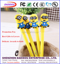 New Cartoon Yellow Boy Cheap Factory Price Eco-friendly Materials Silicone Award Pen School Kids Gift Pen Promo Pen