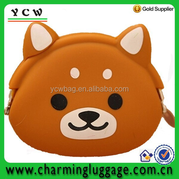 Lovely cartoon silicone wallet with animal coin purse