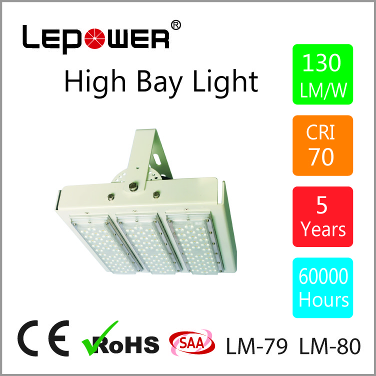 3 modules 150W led high bay light with Bridgelux chip and Meanwell driver