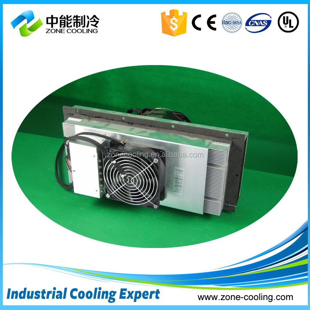 TEC thermoelectric cooler with heat sink and air cooling fan