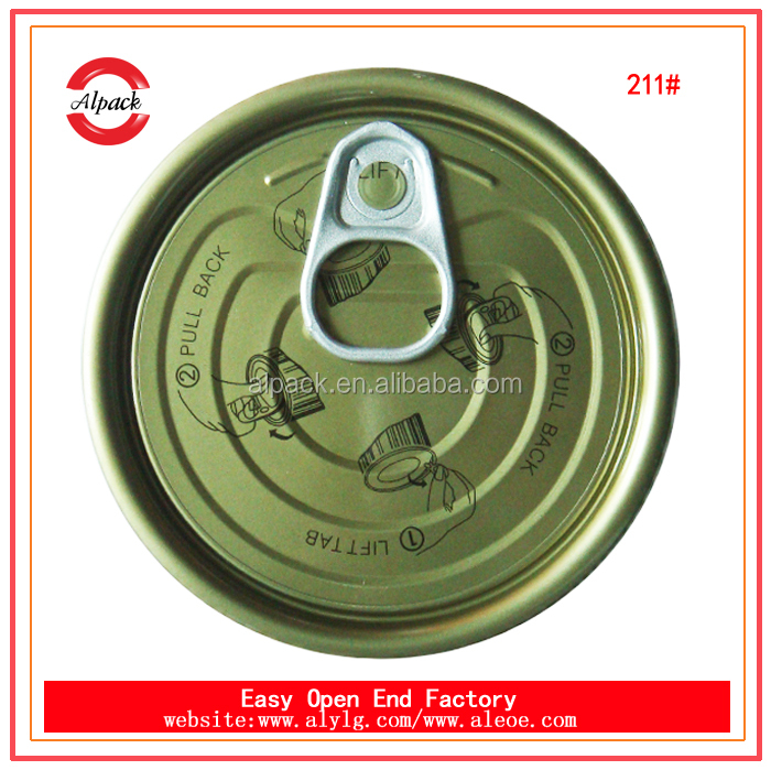 Canned tomato paste packaging material 211# tinplate easy open end