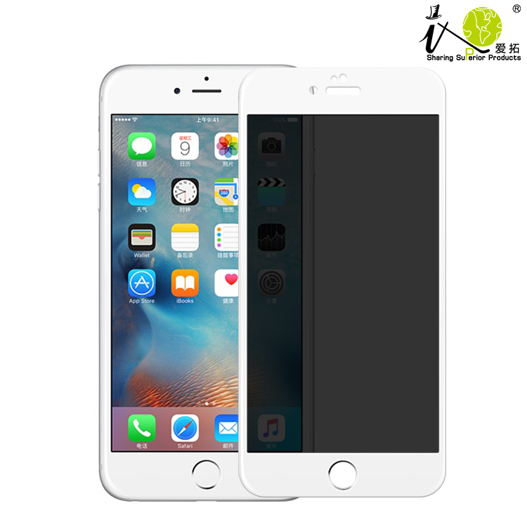 New arrival Colorful Privacy Mobile Phone Accessories Tempered Glass Screen Protector For Iphone 6Plus