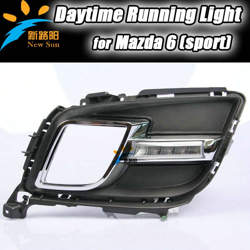 Auto LED Daytime Running Light parking 5050SMD 12V day driving light for Mazda 6 sport