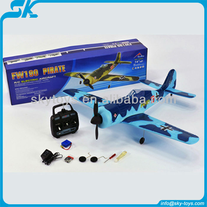 !Remote control airplanes 2.4Ghz 4ch p51 TS822 FW190 pirate rc air plane