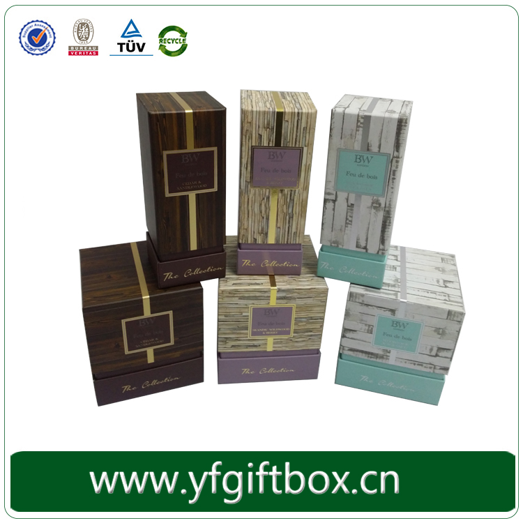 China factory OEM custom printing paper packaging bottle perfume box