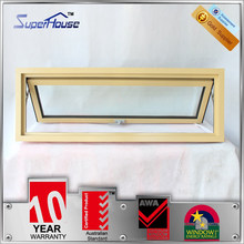 double glazed insulated mill finish aluminum window with built-in blinds