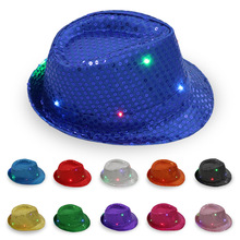 Week Factory Leisure Bump Cap Fashion Paillette Fedora Led Hat