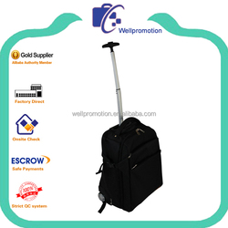 Wellpromotion branded high quality trolley laptop backpack with wheels