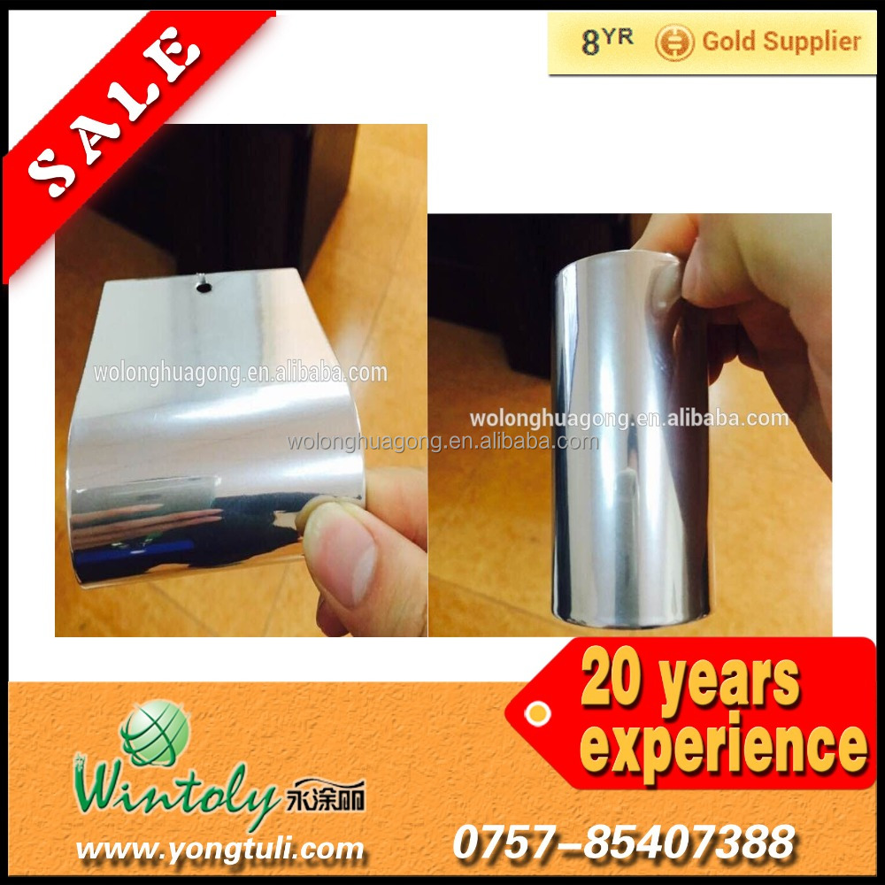 Best-selling mirror chrome effect finish Powder coating