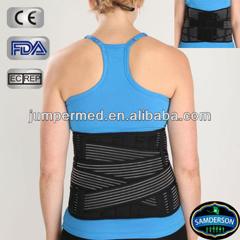 Breathable back support belt, Abdominal binder with elastic straps