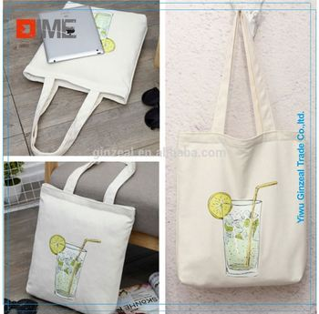 Promotional Customized Logo Printed 100% Cotton Tote HandBags