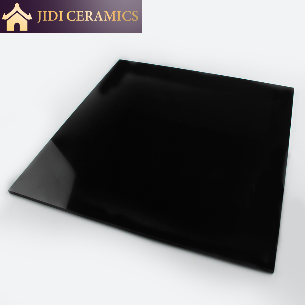 Full body 24x24 Nano Polished Vitrified Black Ceramic Floor Porcelain Tiles