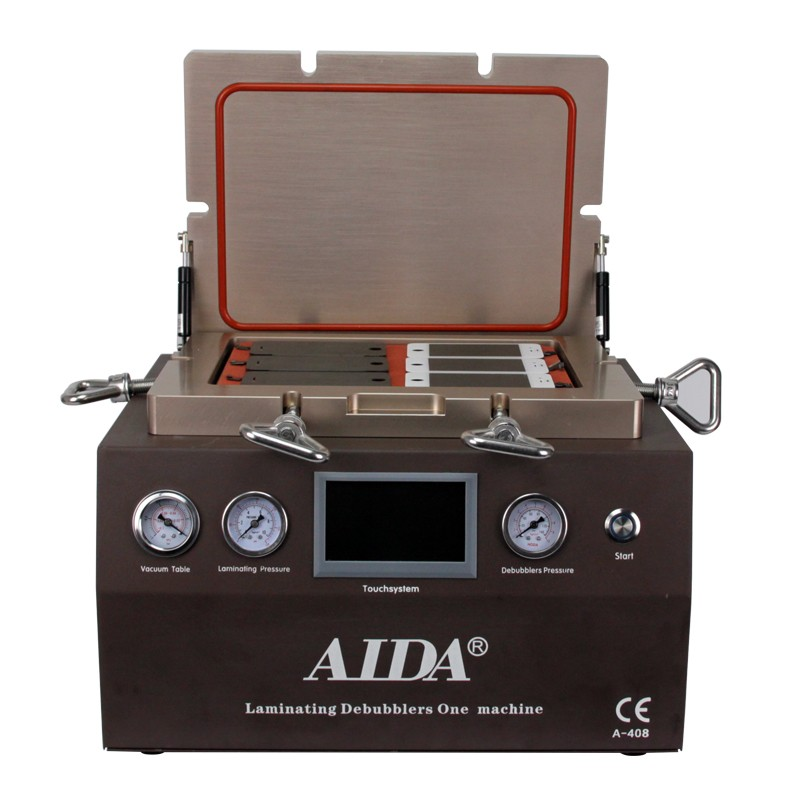 100% no bubbles, LCD & Touchscreen Laminating refurbish machine for AIDA A408, without Air compressor and Air pumper.
