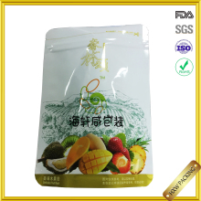 resealable plastic food grade nuts packaging bag/aluminium foil stand up insulated packaging for dried mango